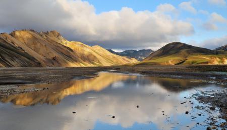 Картинки Исландия, озеро, горы