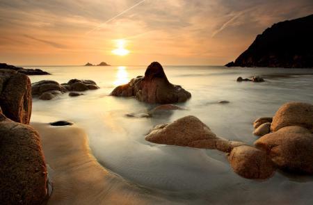 Фотографии морской пейзаж, море, камни, песок