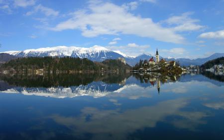 Фото Lake Bled, Словения, озеро, горы