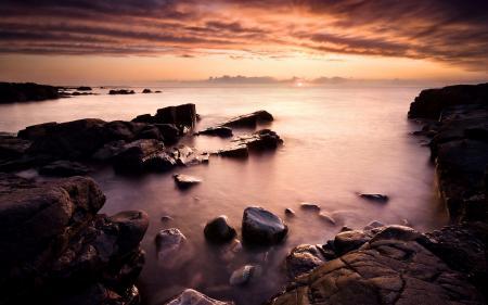 Фотографии закат, небо, облака, море