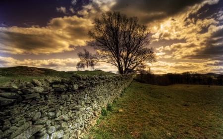 Заставки забор, небо, природа, пейзаж