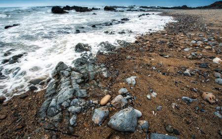 Заставки море, камни, пейзаж, природа