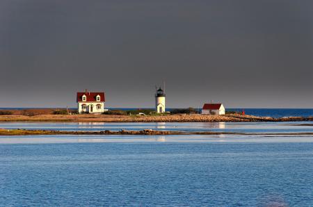 Фотографии море, залив, домики, гладь