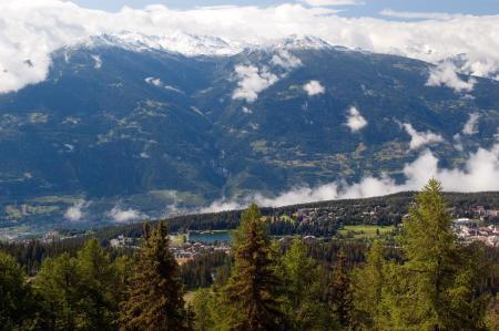Заставки горы, облака, город, лес