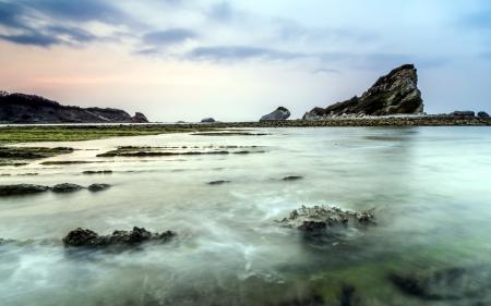 Заставки море, скалы, небо, пейзаж