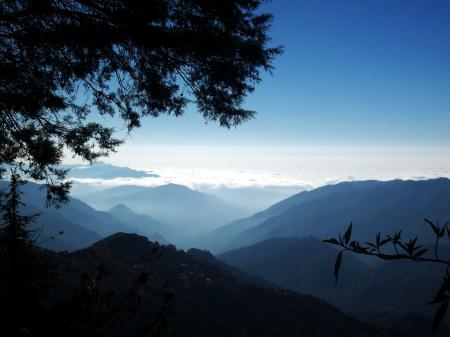 Фотографии горы, вершины, небо, утренний туман