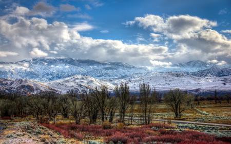 Фотографии дорога, горы, деревья, пейзаж