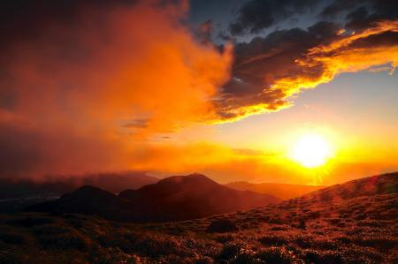 Фотографии закат, природа, пейзаж
