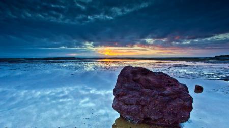 Картинки море, закат, камни