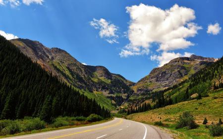 Картинки дорога, горы, лето, пейзаж