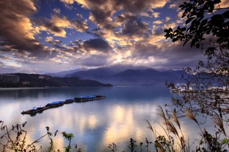 Фото вода, море, корабли, холмы