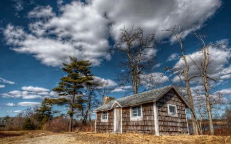 Обои United States, Massachusetts, дом, небо