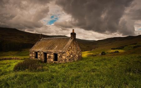 Заставки поле, дом, пейзаж