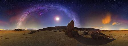 Фотографии галактика, Млечный Путь, Луна, Плеяды