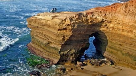 Обои скалы, океан, море, вид