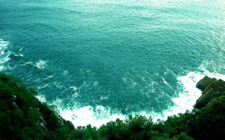Обои вода, море, волны, берег