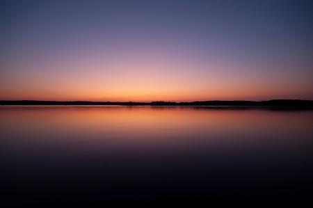 Заставки небо, озеро, закат, гладь