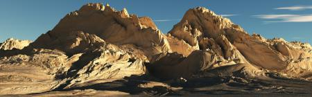 Фотографии панорама, горы, солнечный свет, небо