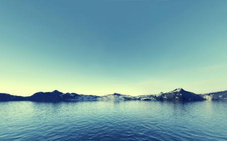 Картинки Вода, Море, Скалы, Горы