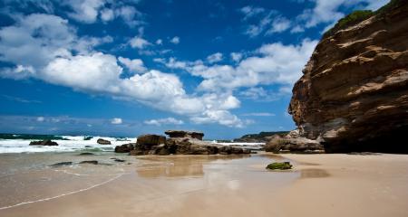 Заставки море, небо, пляж, скалы