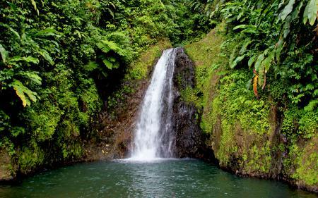 Фото пейзаж, природа, водопад, вода