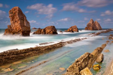 Обои морской пейзаж, море, камни, скалы