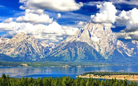 Фото природа, горы, озеро, лес