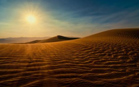 Фото пустыня, дюны, песок, солнце