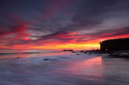 Фотографии закат, вечер, море, скалы