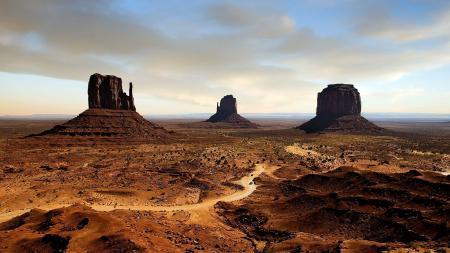Заставки Monument Valley, Долина монументов, дорога, машины