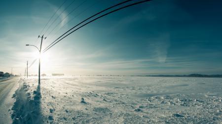 Картинки зима, поле, провода, опоры