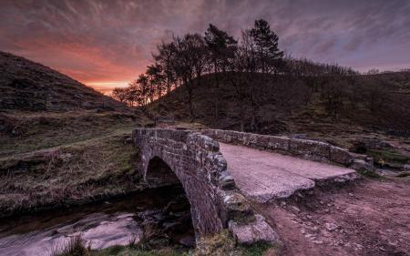 Фото мост, река, ночь, пейзаж