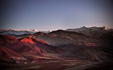 Заставки Иран, Аламут, горы, домики