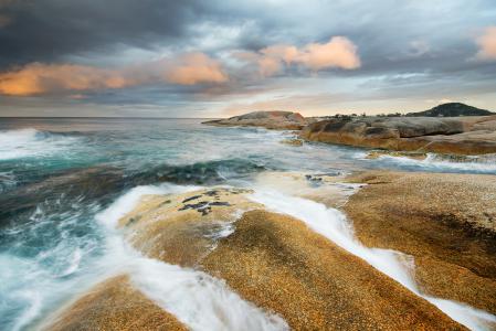 Обои море, океан, камни, волны