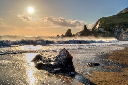 Заставки море, волны, пляж, склы