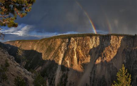 Фотографии каньон, скалы, радуга