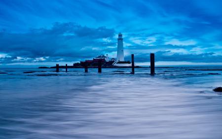 Фотографии море, небо, маяк