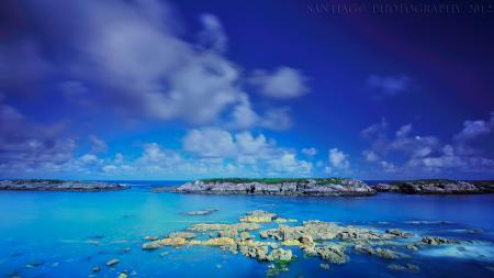 Фото море, скалы, облака