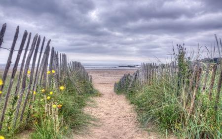 Картинки море, забор, пейзаж