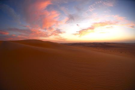 Заставки пустыня, сумерки, закат, облака