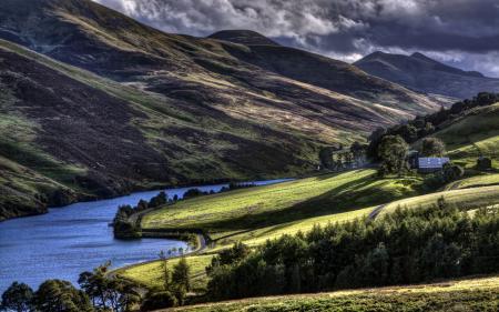 Обои Pentland Hills, Scotland, Landscape