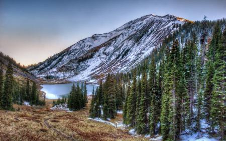 Картинки Emerald Lake, San Juan National Forest, Colorado, Rocky Mountains