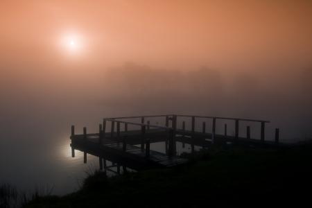 Картинки Великобритания, Шотландия, утро, озеро