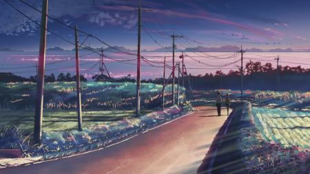 Фотографии аниме, 5 сантиметров в секунду, дорога