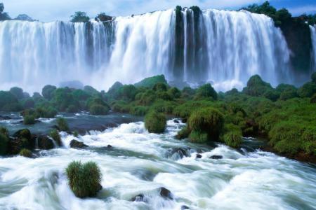 Заставки виды Бразилии, водопад, природа