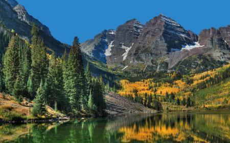 Фотографии горы, озеро, лес, осень