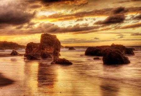 Обои море, небо, пляж, скалы