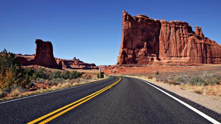 Фото Природа, дорога, пустыня, каньоны
