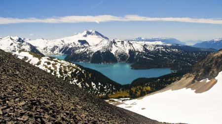 Фото природа, горы, снег, озеро