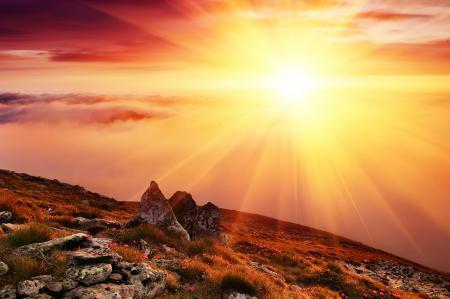 Фото утро, рассвет, солнце, лучи